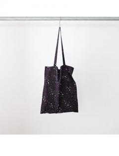 Rayon heart printed tote bag