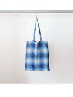Rayon ombre check tore bag (NVY)