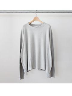 long sleeve pile tee (GRY)