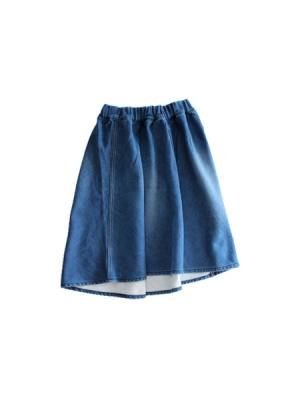 Denim gathered skirt (BLU)