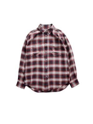 Boys check shirts (RED)