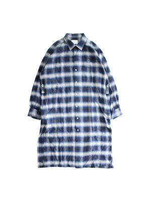 Ombre check shirt gown
