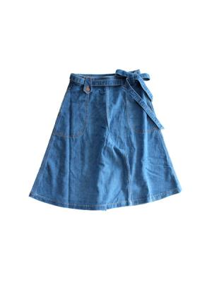Denim culotte skirt (BLU)