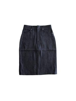 Straight denim skirt (IND)
