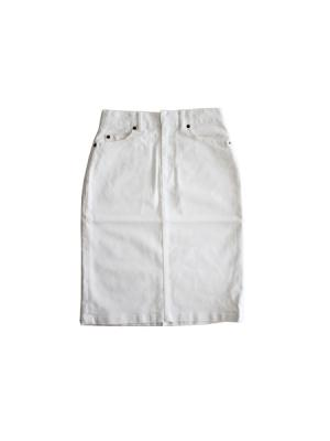 Straight denim skirt (WHT)