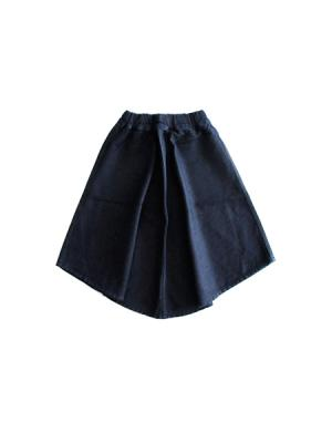 Gathered denim skirt (IND)