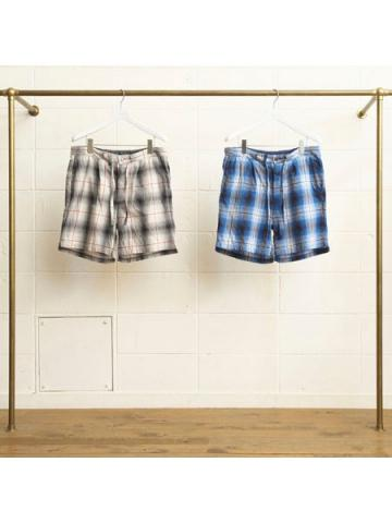 cotton ombre check shorts