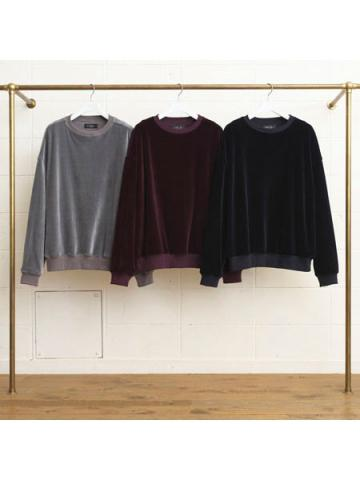 velour crew neck shirts