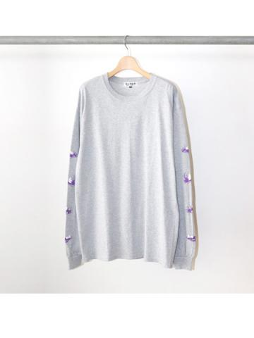 PARTY'S OVER L/S TEE (GRY)