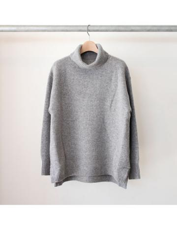Boiled wool big turtle pullover (GRY)