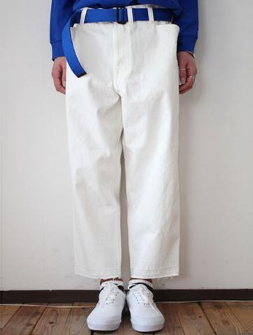 Oversized tapered pants (WHT)サブイメージ2