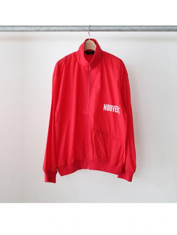 HIGH NECK JERSEY BLOUSON (RED)