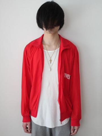 HIGH NECK JERSEY BLOUSON (RED)サブイメージ2