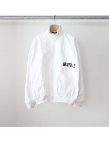 HIGH NECK JERSEY BLOUSON (WHT)