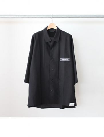 OPEN COLLAR DRESS SHIRT (BK)