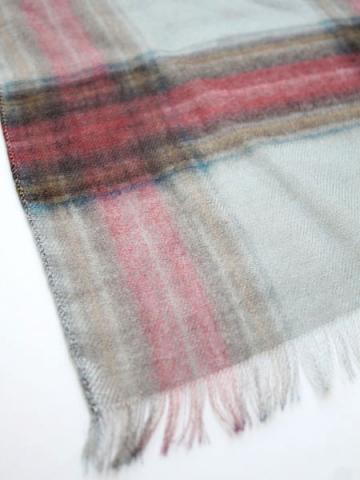 Tencel cashmere check stole (GRY)サブイメージ1