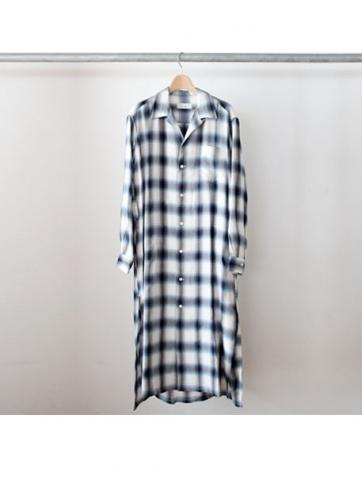 Rayon check gown