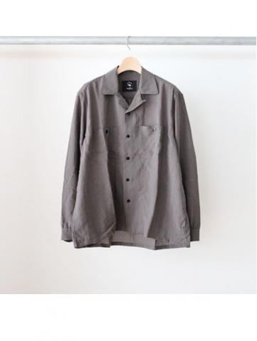 RAYON OPEN COLLAR SHIRTS (GRY)