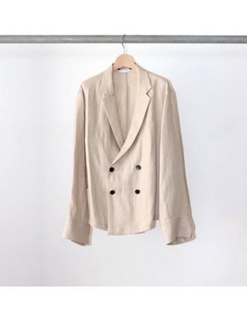 linen double breasted shirts jacket (NTL)