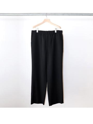 Water repellent straight easy pants (BLK)
