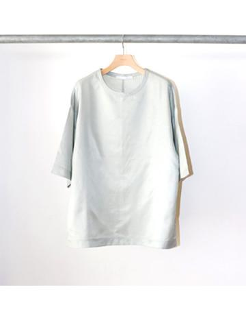 side slit cupro cotton tee (MNT)
