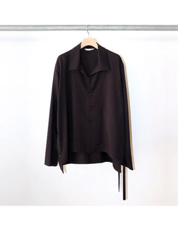 side slit L/S shirt (BLK)