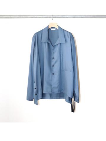 side slit L/S shirt (BLU)