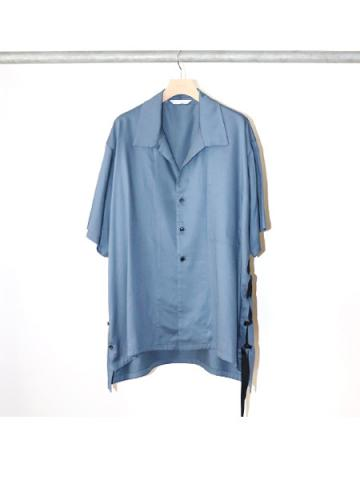 side slit S/S shirt (BLU)