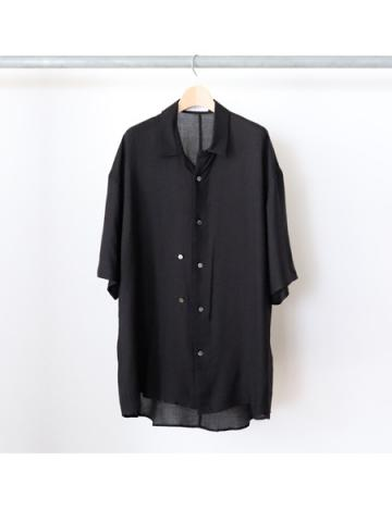 double-buttoned short sleeve shirts (BLK)