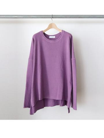 long sleeve side slit knit t-shirts (PLE)