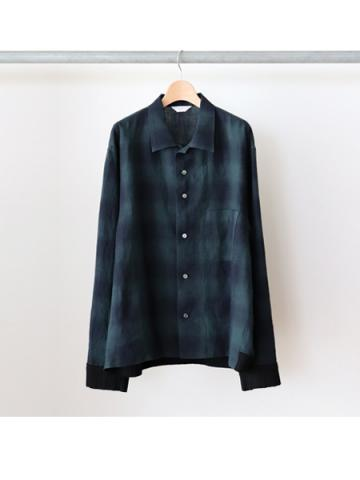 rib shirts jacket (GRN)