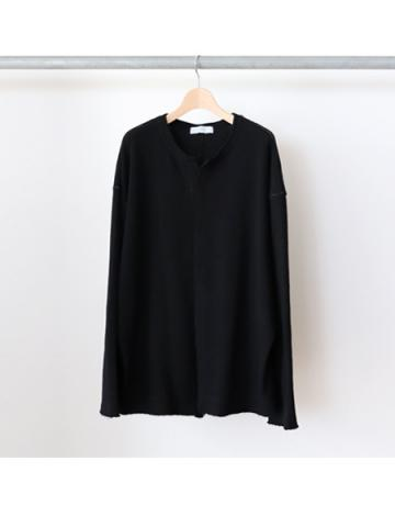 stiching knit cardigan (BLK)