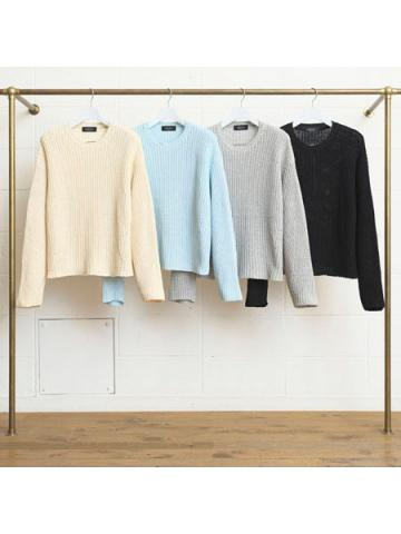 3G crew neck knit sweater