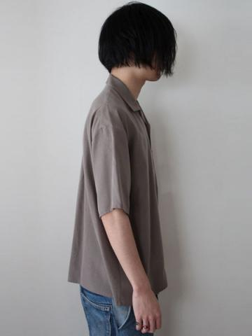 open collar ss shirts (GRY)サブイメージ2