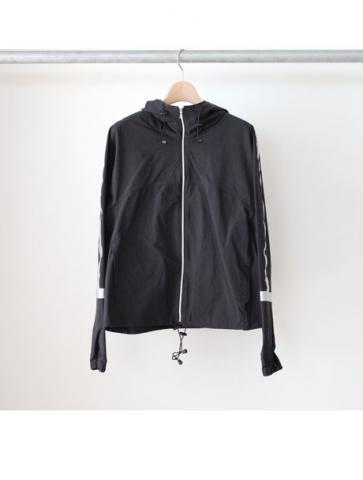 zip hooded blouson