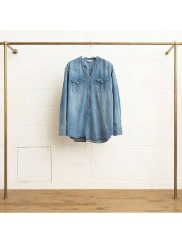 8oz denim pullover western shirt