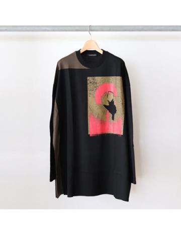 stitching long sleeve t-shirts (BK)