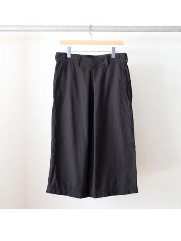 Nylon wide pants (BLK)