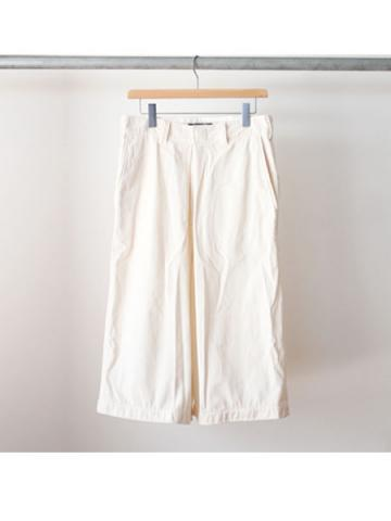 Nylon wide pants (WHT)