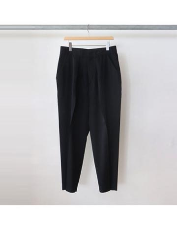 WIDE TAPERED SLACKS (NVY)