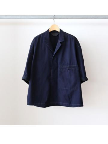 OPEN COLLAR DENIM SHIRT