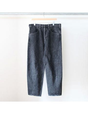 Engineered denim pants (BLK)