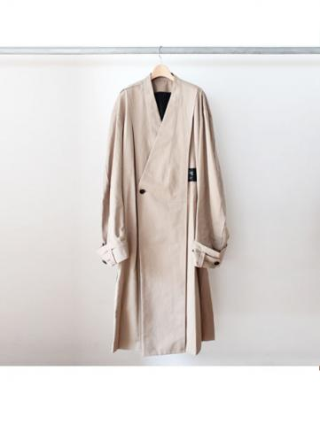 Oversized collar less coat (BEG)