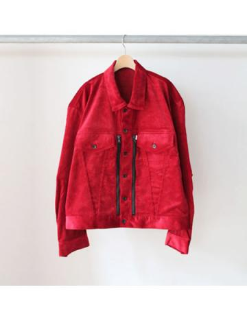 Oversized shaped G jacket (RED)