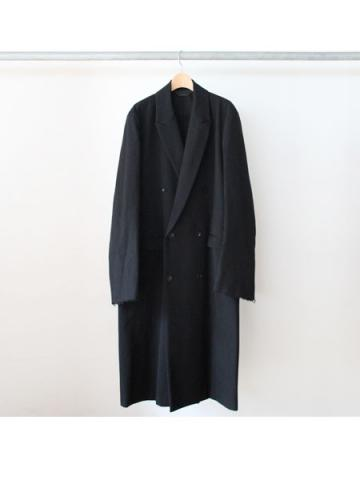 Peaked lapel chester coat