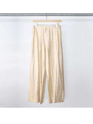 Foiled linen easy pants (GOLD)