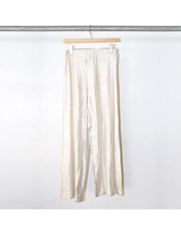 Foiled linen easy pants (SILVER)