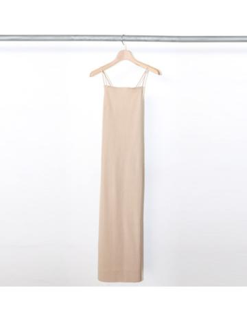 Pe/C random rib camisole dress (BEG)