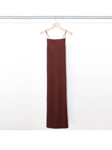 Pe/C random rib camisole dress (CHO)