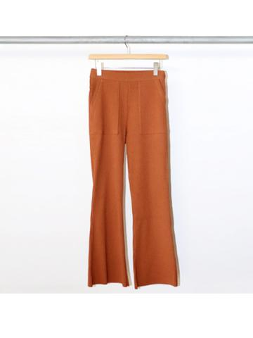 Pe/C random rib flared pants (CAR)